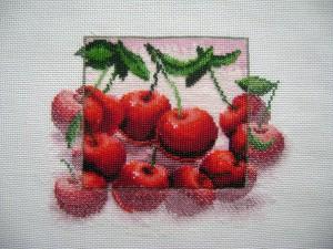 схема вышивки вишня