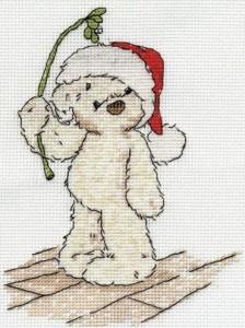 схема вышивки новогодний мишкм тедди