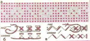 вышивка крестом и полукрестом