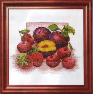 схема для вышивки фрукты