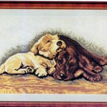 схема для вышивания спящие собачки
