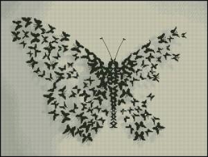 схема для вышивания бабочка из бабочек