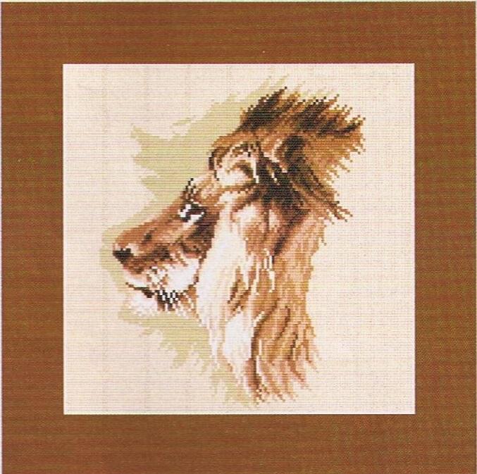 схема для вышивки лев