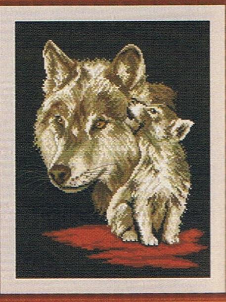 Схема для вышивки Волки