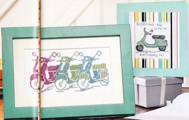 схема для вышивания мотоциклы