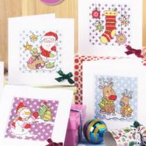 схема вышивки новогодние открытки