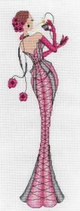 схема для вышивания  Mademoiselle