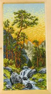 схема для вышивки горный ручей