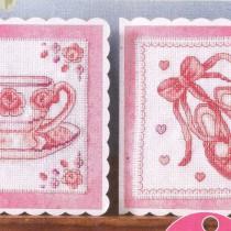 схема для вышивки розовые открытки