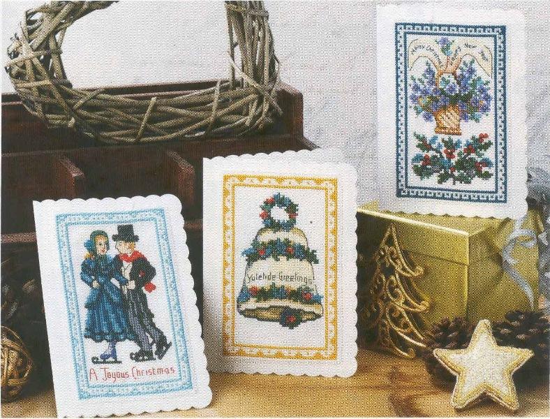 схема вышивки рождественские открытки