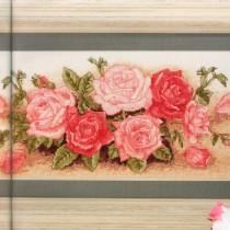 схема вышивки розовые розы