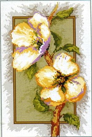 Схема для вышивки Цветы Вишни