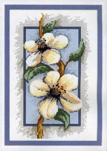 схема для вышивки цветы яблони