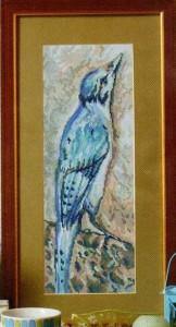 схема вышивки пташка на скале
