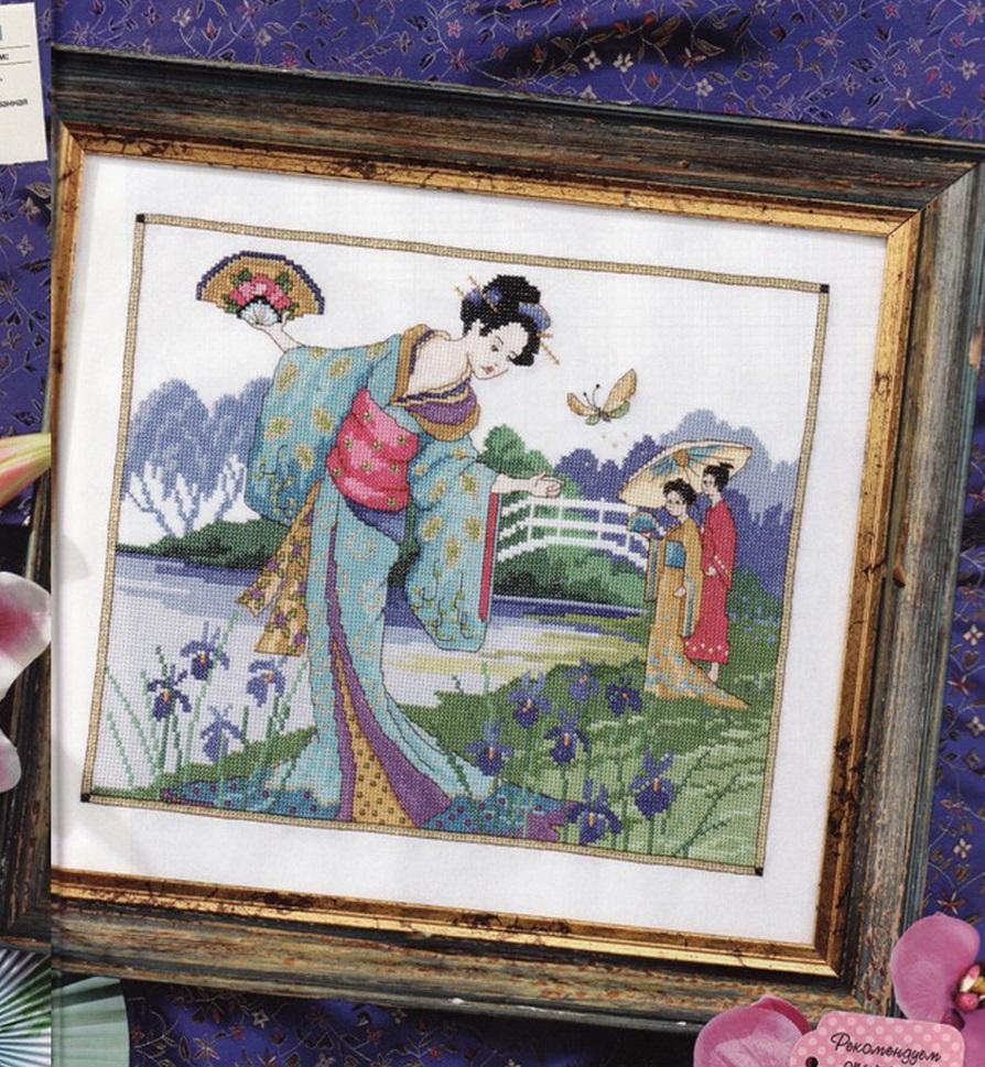 схема вышивки японский сад