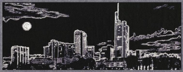 Схема для вышивки ночной город
