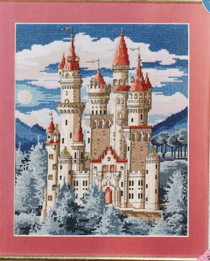 схема вышивки сказочный замок