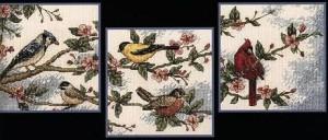 схема вышивки триптих прицы