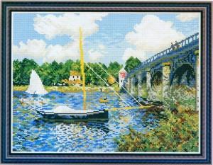 схема вышивки мост
