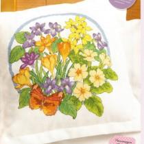 схема вышиаки весенние цветы