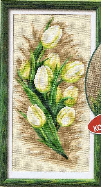 схема вышивки белые тюльпаны4