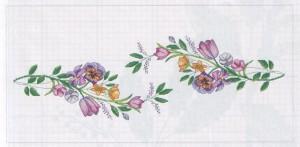 схема вышивки орнамент для салфетки