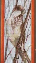 схема вышивки пташка на ветке4