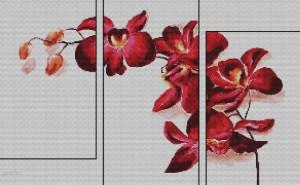 схема вышивки триптих орхидея5