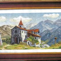 схема вышивки замок в горах1