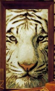 схема для вышивки белый тигр