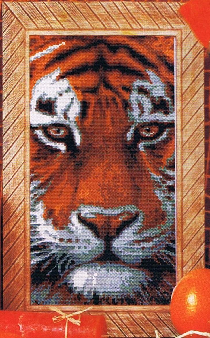 Схема вышивки тигренок скачать