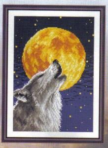 Схема вышивки Волк