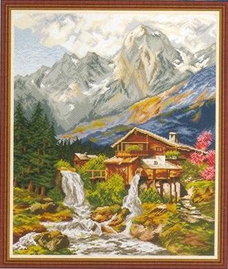 схема вышивки водопад
