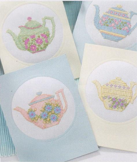 схема вышивки чайники