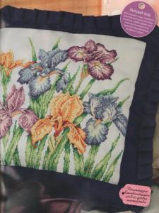 схема вышивки ирисы