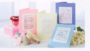 схема вышивки открытки на свадьбу