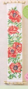 схема вышивки панно с маками