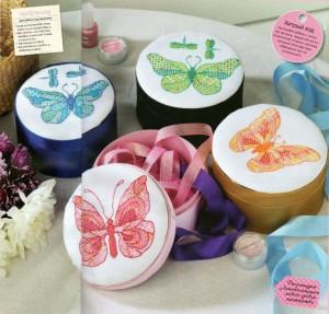 схема вышивки бабочки в стиле блэкворк