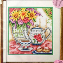 схема вышивки чайный натюрморт