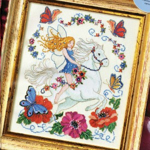 схема вышивки фея весны