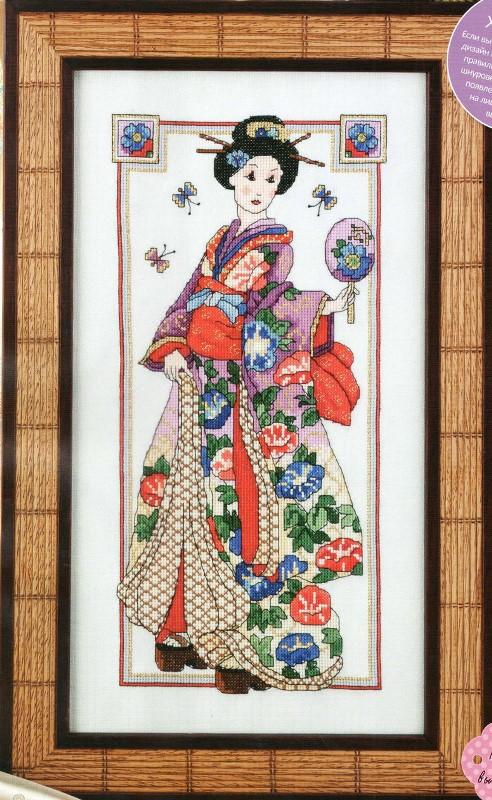 Схема вышивки Грация гейши