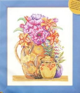 схема вышивки летние цветы