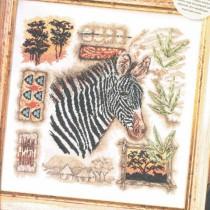 схема вышивки полосатая африка