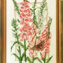 схема вышивки цветы наперстянки