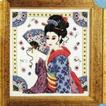 схема вышивки японская красавица