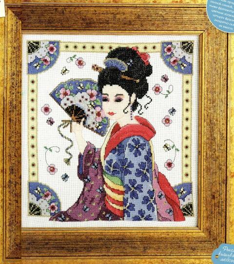 Схема вышивки Японская