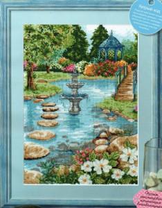 схема вышивки летний парк