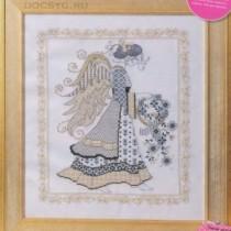 схема вышивки ангел рождества