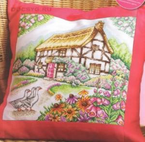 схема вышивки дачный домик
