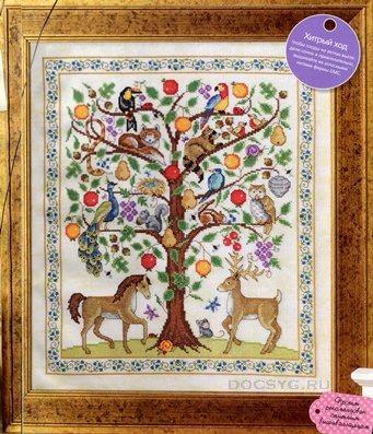 схема вышивки дерево жизни